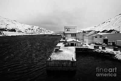 Tobo Fisk Fish Processing Plant And Pier Harbour Havoysund Finnmark Norway Europe Print by Joe Fox