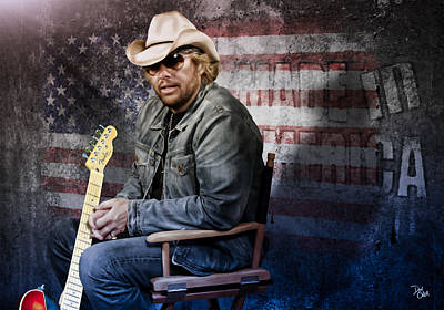 Epiphone Guitar Photograph - Toby Keith by Don Olea