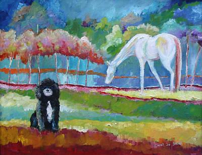 Toby The Poodle Print by Carol Jo Smidt