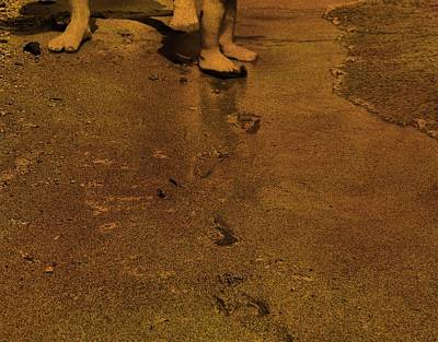 Toddler Footprints In The Sand Print by Dan Sproul