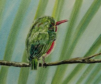 Seem Painting - Tody Bird On A Branch by Richard Goohs