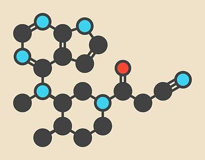 Tofacitinib Molecule Print by Molekuul