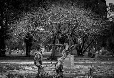 Del Rio Tx Print featuring the photograph Together Even In Death by Amber Kresge