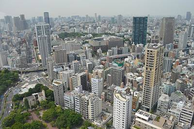 Tokyo Skyline Photograph - Tokyo Intersection Skyline View From Tokyo Tower by Jeff at JSJ Photography