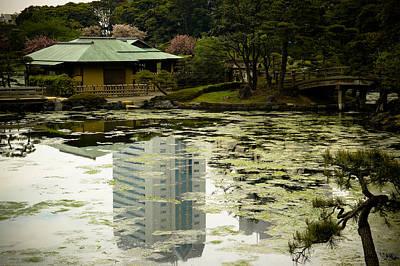 Tokyo Reflection Print by Sebastian Musial