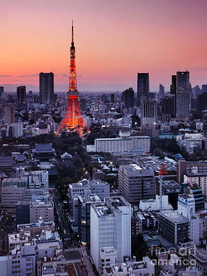 Sunset Photograph - Tokyo Tower During Sunset by Oleksiy Maksymenko