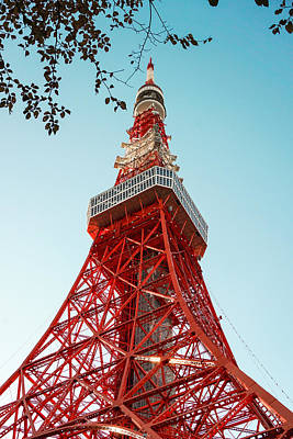 Tokyo Skyline Photograph - Tokyo Tower In Winter by Fiesta Photography