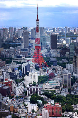 Tokyo Skyline Photograph - Tokyo Tower by Rachel  Arbaugh