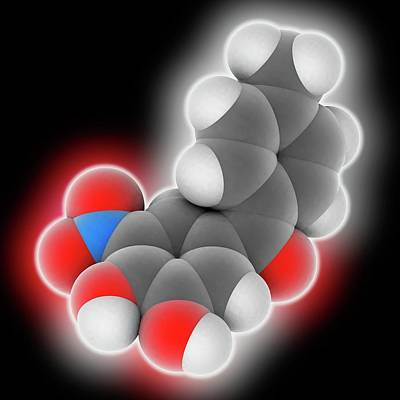 Tolcapone Drug Molecule Print by Laguna Design