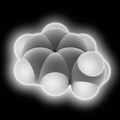 Toluene Molecule Print by Laguna Design