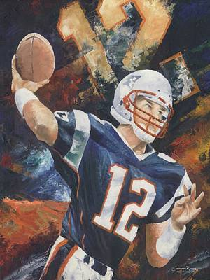 Nfl Art Painting - Tom Brady by Christiaan Bekker