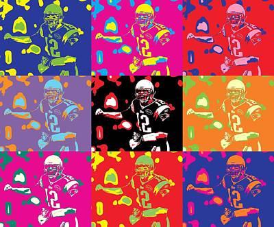 Tom Brady Pop Art Print by Dan Sproul