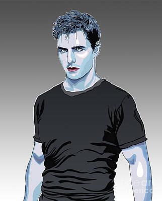 Tom Cruise Drawing Original by Dominique Amendola