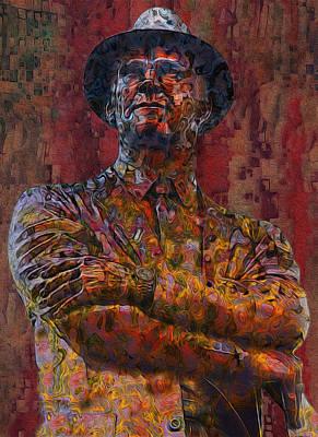 Tom Landry - The Last Cowboy Print by Jack Zulli