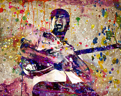 Rage Painting - Tom Morello Original by Ryan Rock Artist