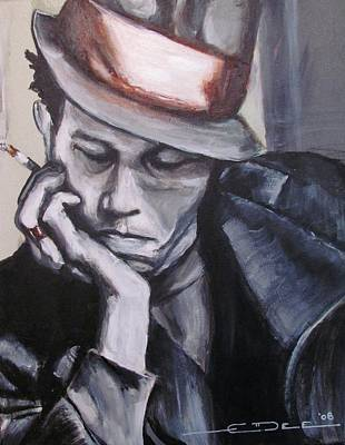 Celebrity Portrait Painting - Tom Waits One by Eric Dee