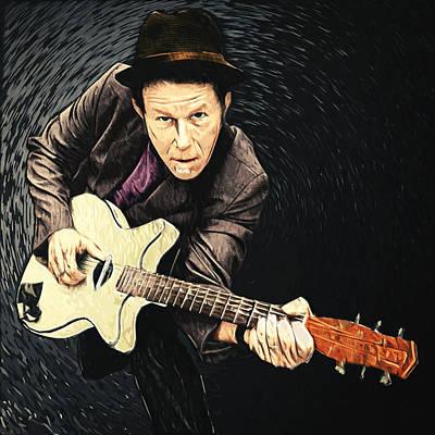Bruce Springsteen Digital Art - Tom Waits by Taylan Soyturk