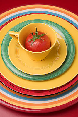 Tomato In A Cup Print by Garry Gay