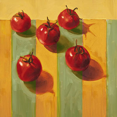 Vegetables Painting - Tomatoes by Cathy Locke