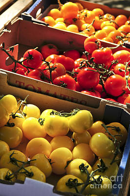 Local Photograph - Tomatoes On The Market by Elena Elisseeva