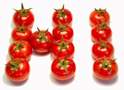Dialog Photograph - Tomatoes Say Hi  by Beata Dagiel