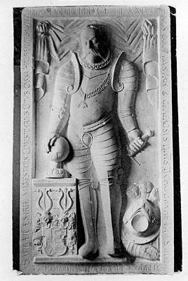 Marble Tomb-stones Photograph - Tomb Of Tycho Brahe by Royal Astronomical Society