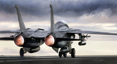 Tomcat Launch Print by Peter Chilelli