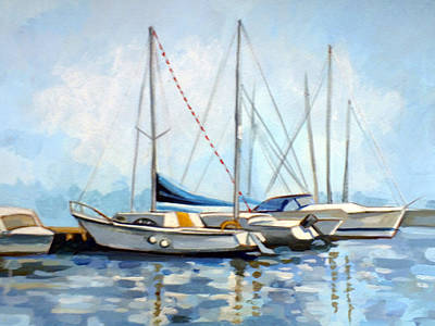 Navigation Painting - Tomis Harbor by Filip Mihail