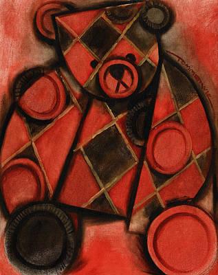 Checkers Game Bear Art Print Print by Tommervik