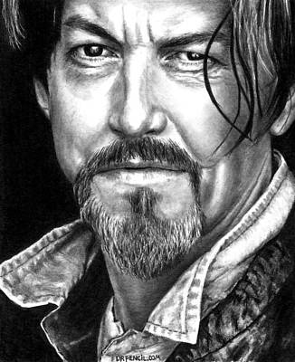 Tommy Flanagan As Chibs Print by Rick Fortson