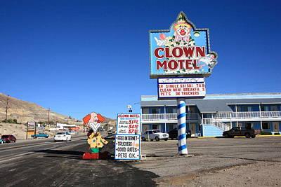 Tonopah Nevada - Clown Motel Print by Frank Romeo
