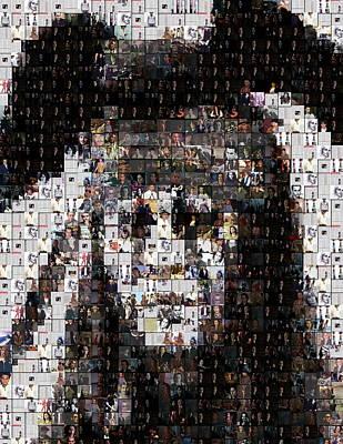 Johnny Depp Mixed Media - Tonto Johnny Depp Mosaic by Paul Van Scott