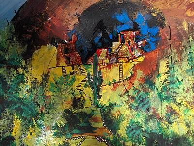 Ruins Mixed Media - Tonto Ruins by Wayne  Ligon