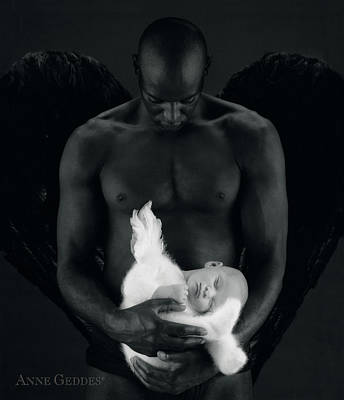 Angel Photograph - Tony Holding Annabelle by Anne Geddes