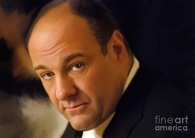 Mob Painting - Tony Soprano by Paul Tagliamonte
