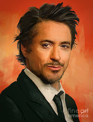 Tony Stark Print by Dori Hartley
