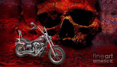 Lowrider Digital Art - Heaven And Hell 2 by Linda Lees