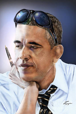 Barack Obama Painting - Too Cool For Congress-the Veto by Reggie Duffie