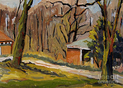 Rights Painting - Tool Shed Still Cold by Charlie Spear
