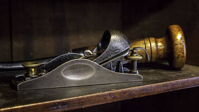 Restless Light Photograph - Tools-vintage-carpenter's Wood Plane by Lynn Palmer