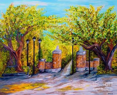Pride Painting - Toomer's Corner Oaks by Eloise Schneider