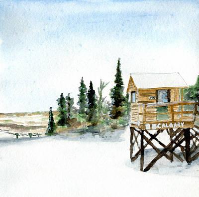 Top Of Giants Ridge Print by R Kyllo