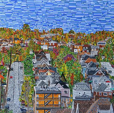 Greenfield Painting - Top Of Hoosac Street by Micah Mullen