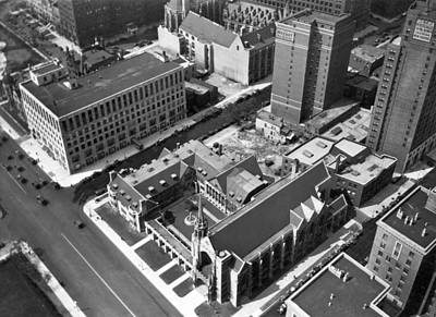 Top Of Palmolive Building View Print by Underwood Archives