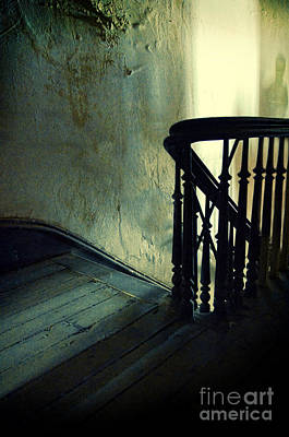 Top Of The Stairway Shadow Print by Jill Battaglia
