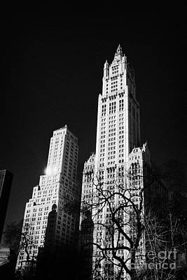top of the Woolworth building 233 Broadway and transportation building new york Print by Joe Fox