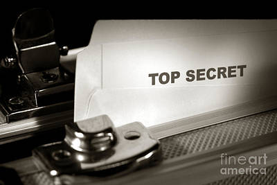 Top Secret Document In Armored Briefcase Print by Olivier Le Queinec
