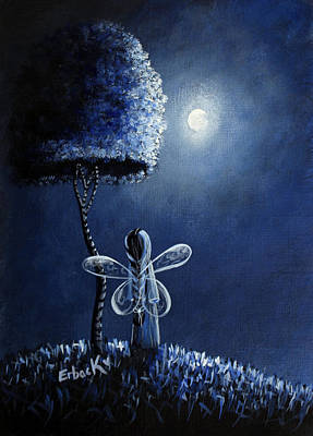Fantasy Art Painting - Topaz Fairy Original Artwork by Shawna Erback