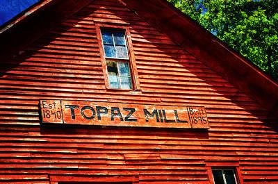 Topaz Print by Marty Koch