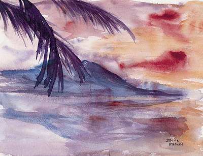 Palm Frond Painting - Topical Mood by Darice Machel McGuire